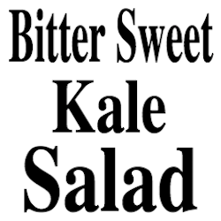 Bitter Sweet Kale Salad