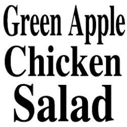 Green Apple Cranberry Celery Chicken Salad