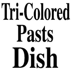 Tri Colored Pasta Dish